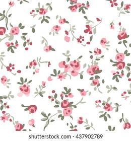 ditsy pastels floral print
