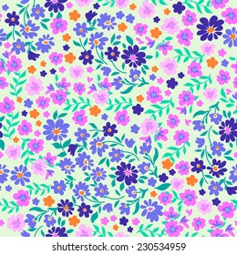 ditsy pastels  seamless floral print