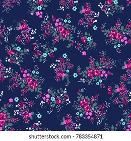 Ditsy Rose print - seamless background