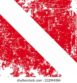 dive flag grunge, vector illustration