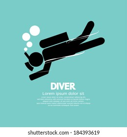 Diver Vector Illustration