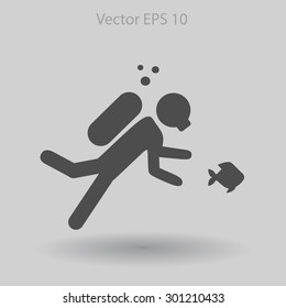 Diver vector illustration