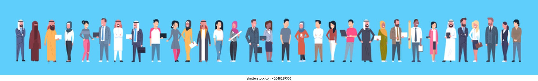 Diverse Business People Businessmen And Businesswomen, Mix Race Businesspeople Horizontal Banner