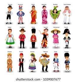 diverse ethnic group of kids of different nationalities and countries