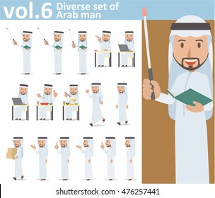 Diverse set of Arab man on white background , EPS10 vector format vol.6