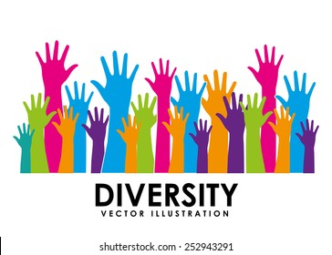 diversity concept design, vector illustration eps10 graphic