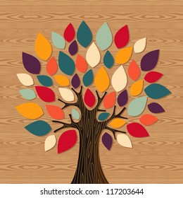 Diversity concept tree illustration. Vector file layered for easy manipulation and custom coloring.