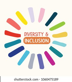 Diversity and inclusion logo with bright colours