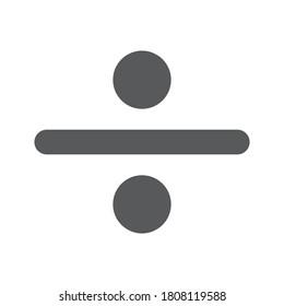 Divide symbol vector Division Sign on white background