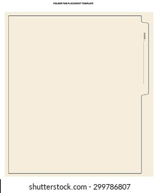 divider tab top template stock vector royalty free 299786807