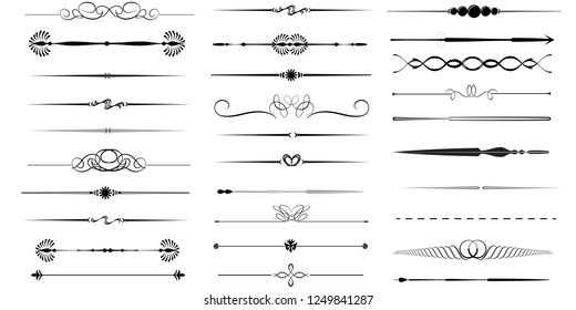 Divider vector collection symbol isolated. Vector illustration. Vector illustration isolated on white background.