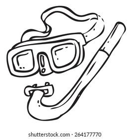 Diving Equipment Doodle