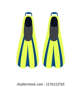 Diving flippers. Swimming flippers. Vector illustration. EPS 10.