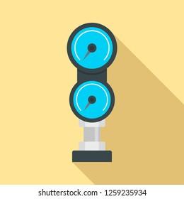 Diving gauge icon. Flat illustration of diving gauge vector icon for web design