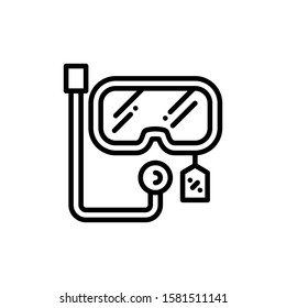Diving Glasses Icon Outline Vector. Holiday Sale Icons. Online Shop Ikon.