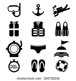 scuba icons images stock photos vectors shutterstock https www shutterstock com image vector diving icon set vector illustration 204728236