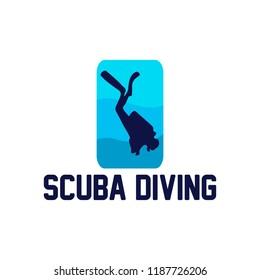 Diving Logo Template