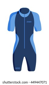 Diving suit for male vector and scuba suit underwater equipment