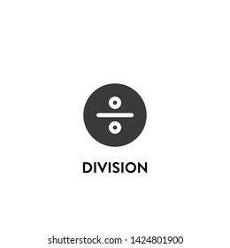 division icon vector. division vector graphic illustration