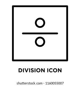 Division icon vector isolated on white background, Division transparent sign , line and outline elements in linear style