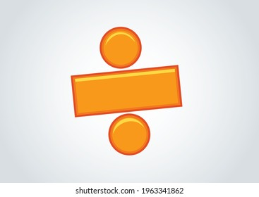 Division symbol in mathematics, good concept for ads, leaflet and other promotional materials. Offer. Golden division symbol. book cover page