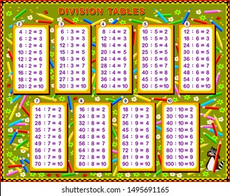 graphic about Printable Division Tables identify Section Desk Pics, Inventory Images Vectors Shutterstock