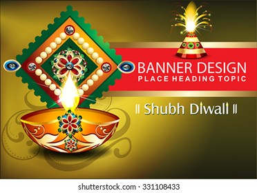 diwali celebration background with cracker vector illustration