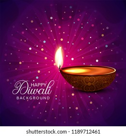 Diwali colorfu card decorativel background Vector