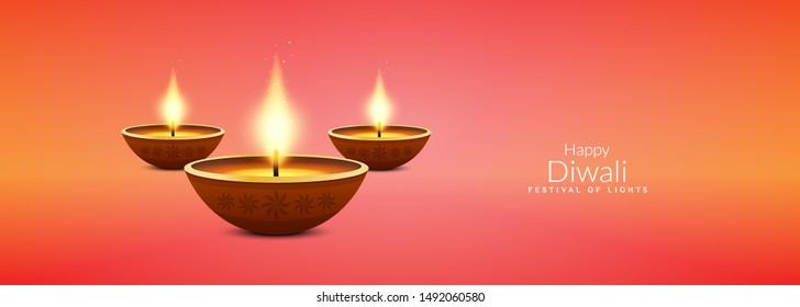 Diwali, Deepavali or Dipavali the festival of lights india color Background