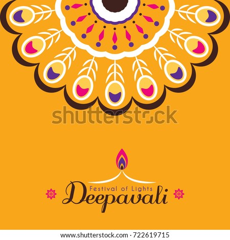 Diwali deepavali greeting card template design stock vector royalty diwali or deepavali greeting card template design diwali pattern design element festival of lights m4hsunfo