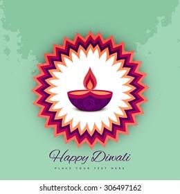 Diwali festival celebration card colorful vector background