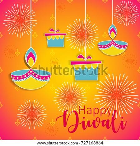 Diwali festival greeting card diwali diya stock vector royalty free diwali festival greeting card with diwali diya oil lamp m4hsunfo