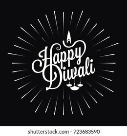 diwali festival logo star burst design background
