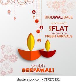 Diwali Festival Offer Design,Diwali Offer Flyer Design Template.