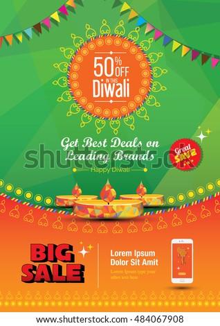 diwali festival poster design template 50 のベクター画像素材