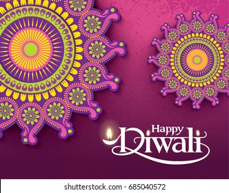 Diwali Festival. Vector illustration