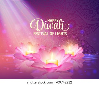 Diwali greetings images stock photos vectors shutterstock diwali greeting background 3d vector festival of lights illustration lotus oil lamp m4hsunfo