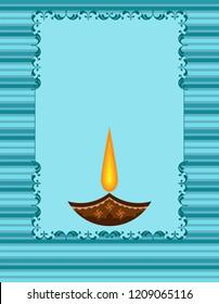 Diwali Greeting, Festival Of Light Vector Art Illustration