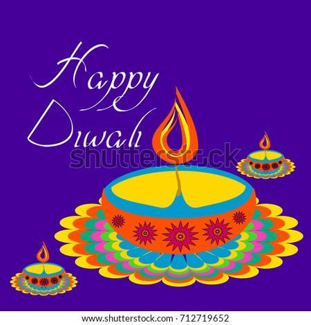 Diwali greetings earthenware lamp diya festival stock vector diwali greetings with earthenware lamp or diya for the festival of lights m4hsunfo