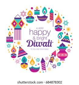Diwali Hindu festival design elements