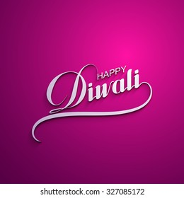 Diwali. Holiday Vector Illustration Of Religion Event Deepavali. Lettering Composition. Poster Template