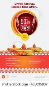 Diwali Offer Poster Design Layout Template