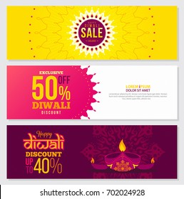 Diwali Sale abstract banner design creative vector Shubh illustration in Bright background ideal for Website Banner Template Discount card