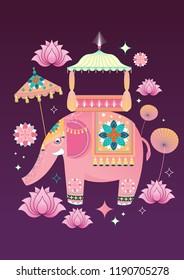 diwali/deepavali, festival of lights elements greetings template vector/illustration