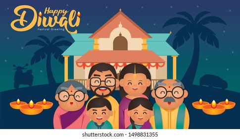 India Family Cartoon Images Stock Photos Vectors Shutterstock