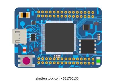 DIY Electronic Mega Board Microcontroller LE Ds Stock Vector (2018 ...