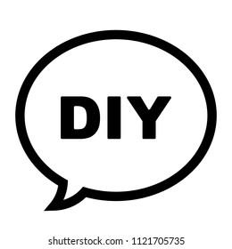 Diy icon abbreviation do yourself speech stock vector 1121705735 diy icon abbreviation for do it yourself in a speech bubble icon vector illustration solutioingenieria Choice Image
