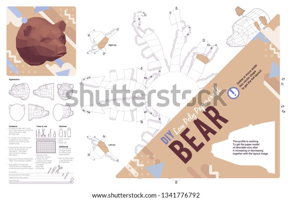 photo relating to Printable Paper Craft titled Do it yourself Papercraft Go through Brain Produce Your Inventory Vector (Royalty