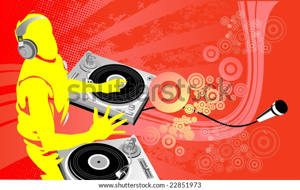 Dj Art Work Dj Party City Stock Vector (Royalty Free) 22851973