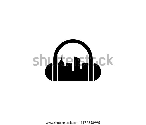 Dj City Logo Stock Vector (Royalty Free) 1172858995